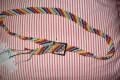 Cintura multicolore a macramè